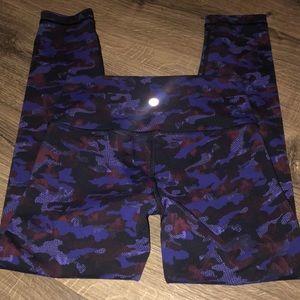 Lululemon purple camouflage align legging